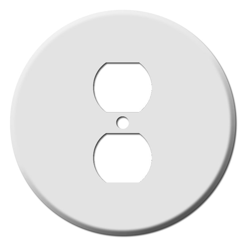 Circular Outlet Covers For Round Or Duplex Outlets