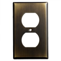 1 Duplex Outlet Electrical Wall Plate Covers - Oil Rubbed ...