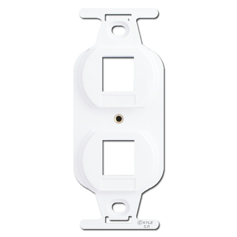 light switch a light a phone jack a data port and an outlet