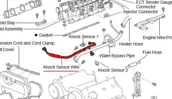 toyota 4runner knock sensor diagram