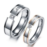 His And Hers Promise Stainless Steel Ring Sets - AngelSale