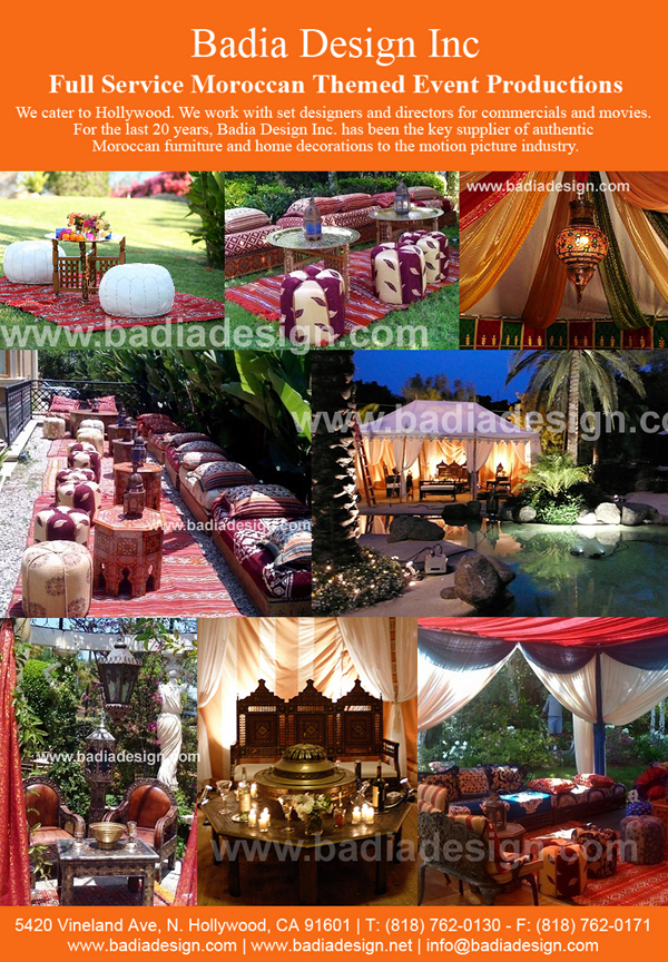 Moroccan Themed Movie and Party Rental with Moroccan Movie Prop