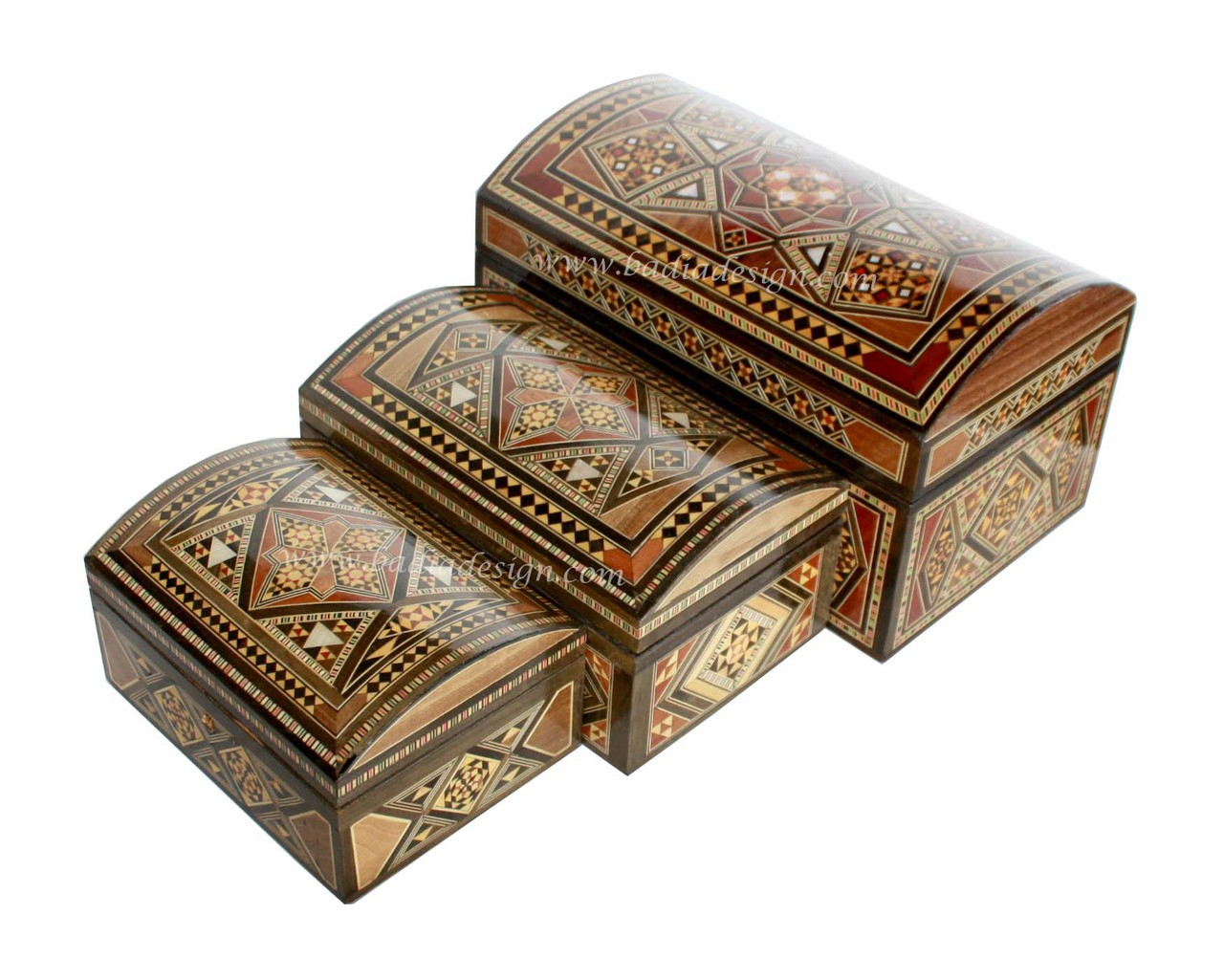 Big W Jewellery Box Inlaid Wooden Jewelry Box With A Syrian Design From Badia