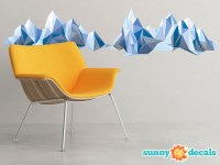 Geometric Mountain Fabric Wall Decal - Modern Mountain ...