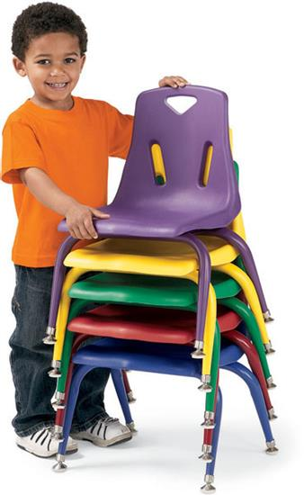 Stacking Chair Fabric Vinyl Plastic Visitor