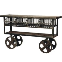 Industrial Rolling Kitchen Cart | Zin Home
