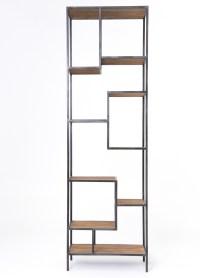 "Geometric Reclaimed Pine Wood + Iron Bookcase 102"" | Zin Home"