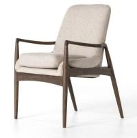 Braden Mid-Century Modern Upholstered Dining Arm Chair ...