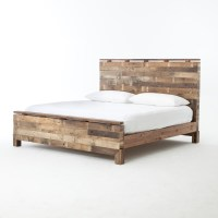 Angora Rustic Reclaimed Wood King Size Platform Bed | Zin Home