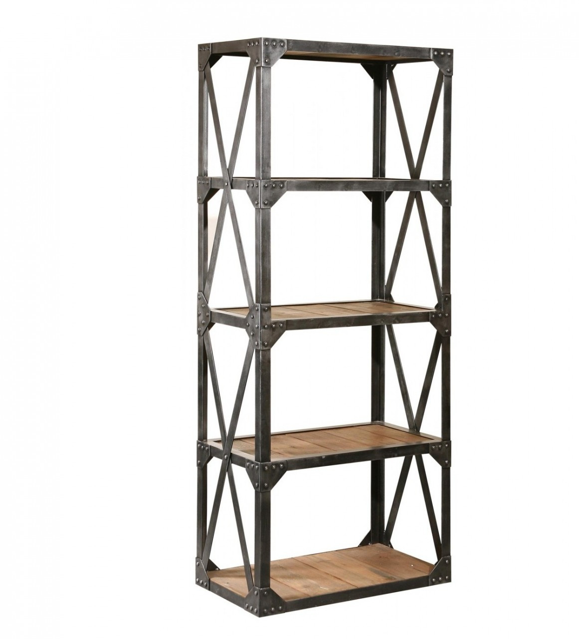 Aluminum Bookcase Industrial Reclaimed Narrow Bookcase Zin Home Salvaged