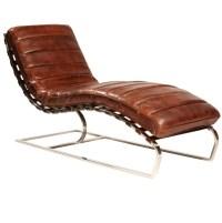 St. James Leather Chaise-Cognac | Zin Home