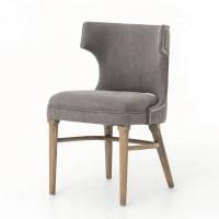 Task Dark Gray Nailhead Wing Dining Chair | Zin Home