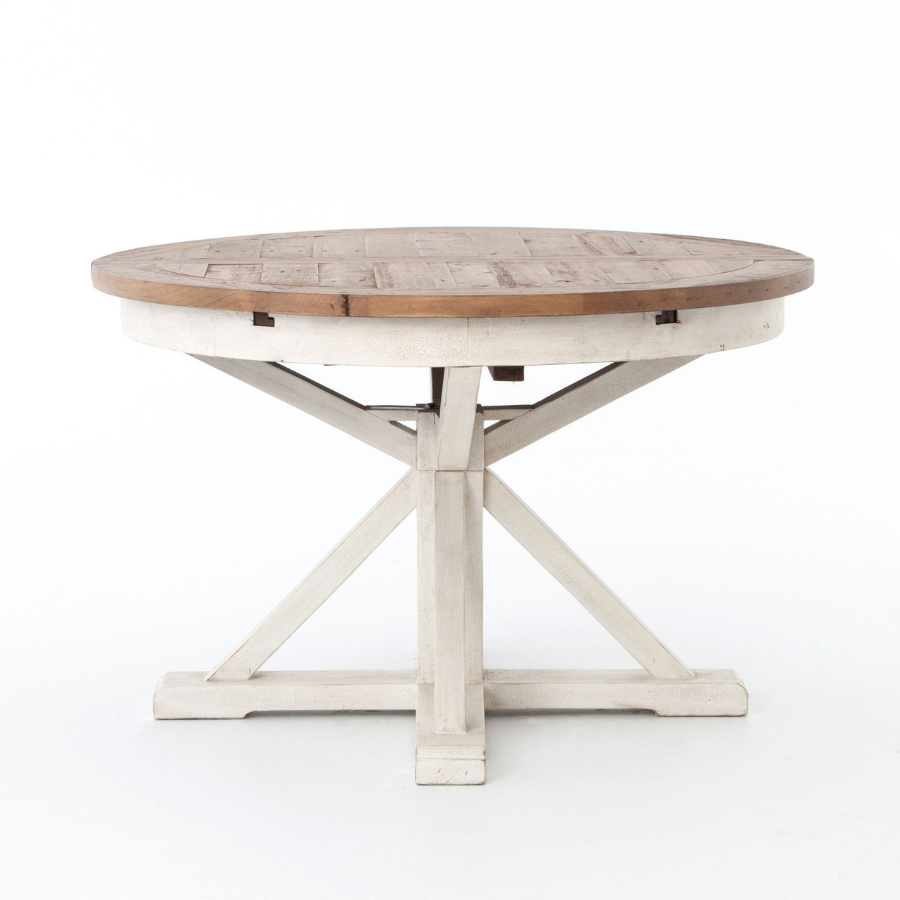 Expandable Round Dining Table For Sale Cintra Reclaimed Wood White Expandable Round Dining Table