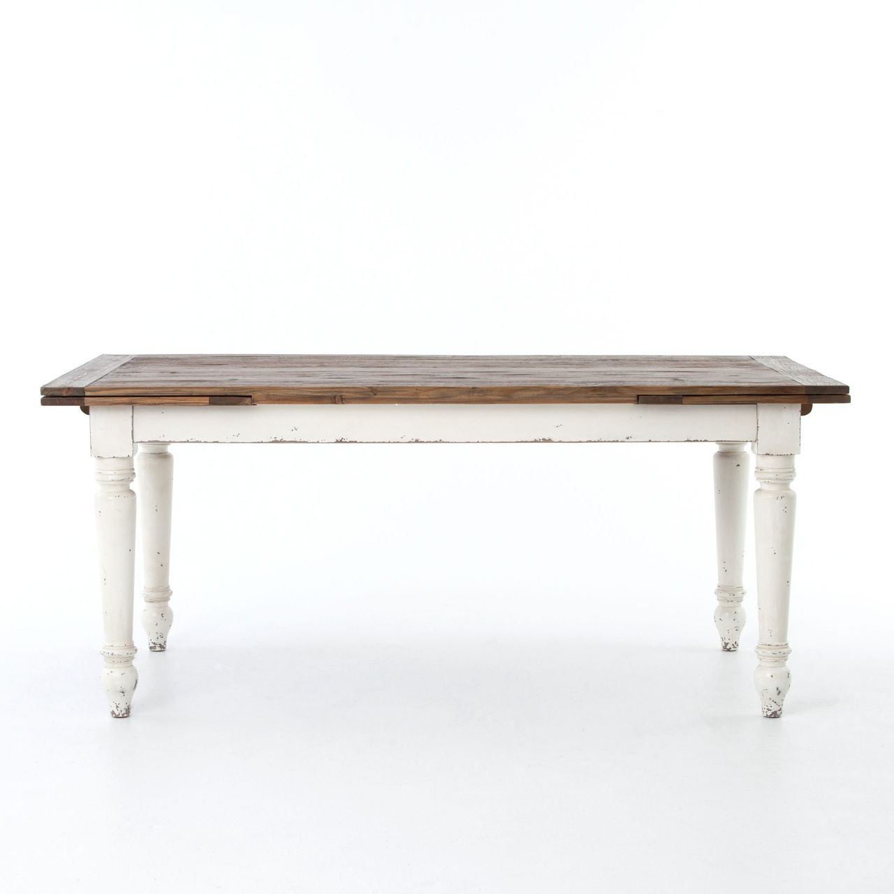 Expandable White Dining Table Cottage Reclaimed Wood White Expanding Dining Table 72 110