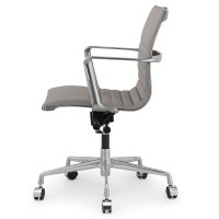 Grey Italian Leather M346 Modern Office Chairs | Zin Home