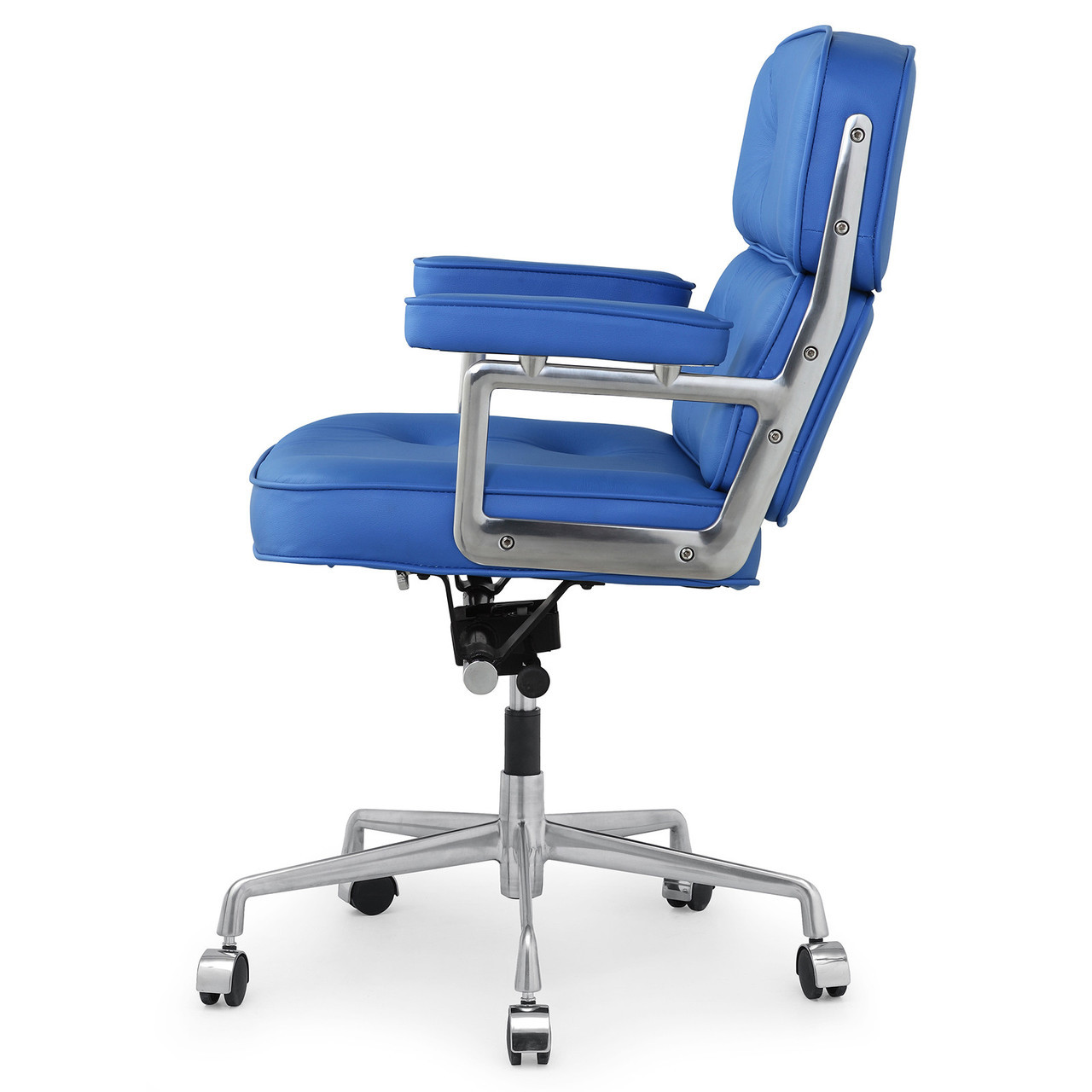 Blue Office Chair Blue Italian Leather M340 Executive Office Chair Zin Home