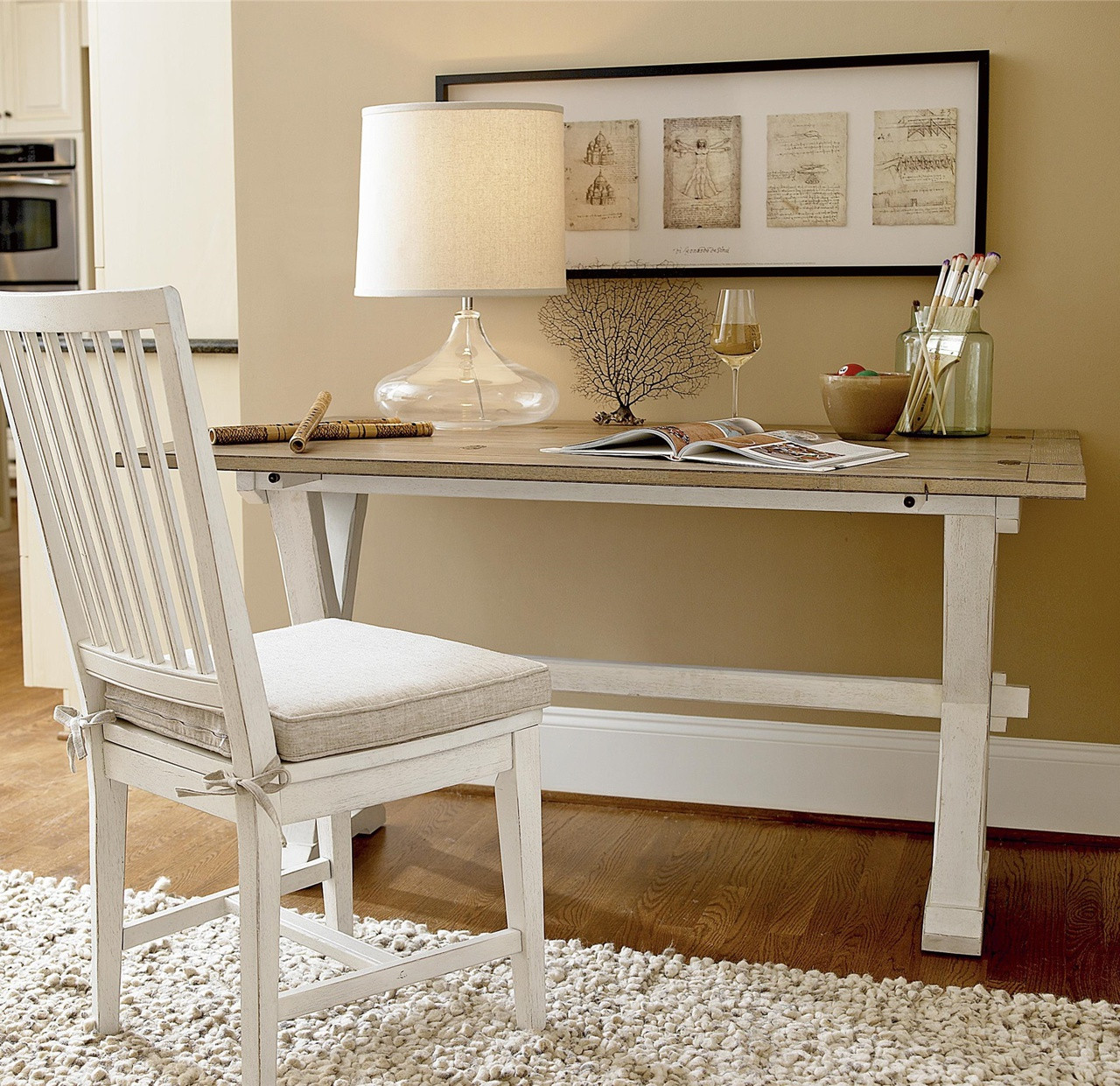 coastal beach white drop leaf kitchen console table kitchen console table Console Table Coastal Beach White Oak Desk