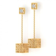 Cube Cutout Drop Earrings Jewellery India Online ...