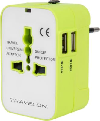 Coles Travel Adaptor Worldwide Travel Adapter With Dual Usb Chargers