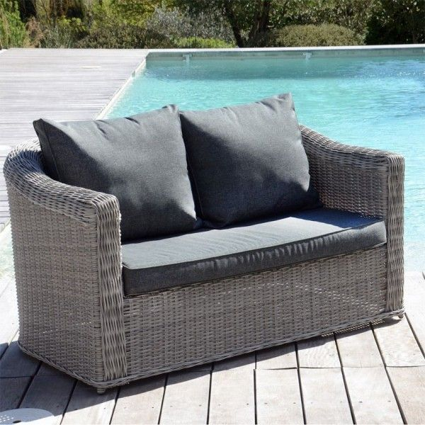 Salon De Jardin 8 Places Leroy Merlin Canapé De Jardin 2 Places Giglio - Gris/gris Anthracite