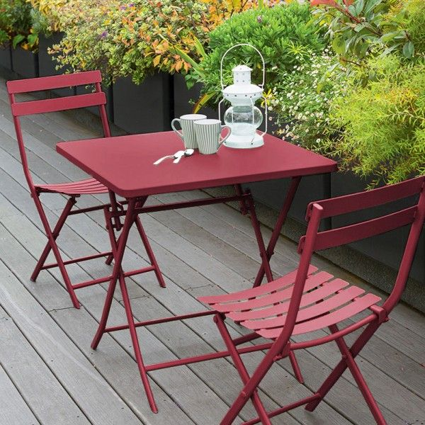 Table Pliante Extensible Table De Jardin Pliante Carrée Métal Greensboro (70 X 70