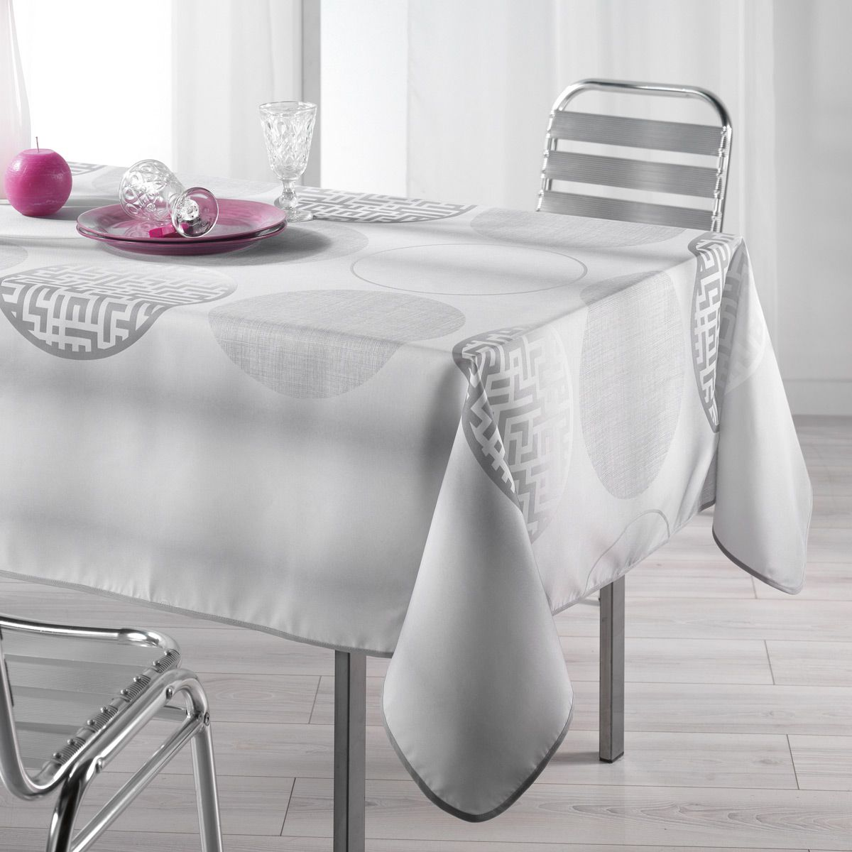 Nappe Grise Nappe Rectangulaire Grise
