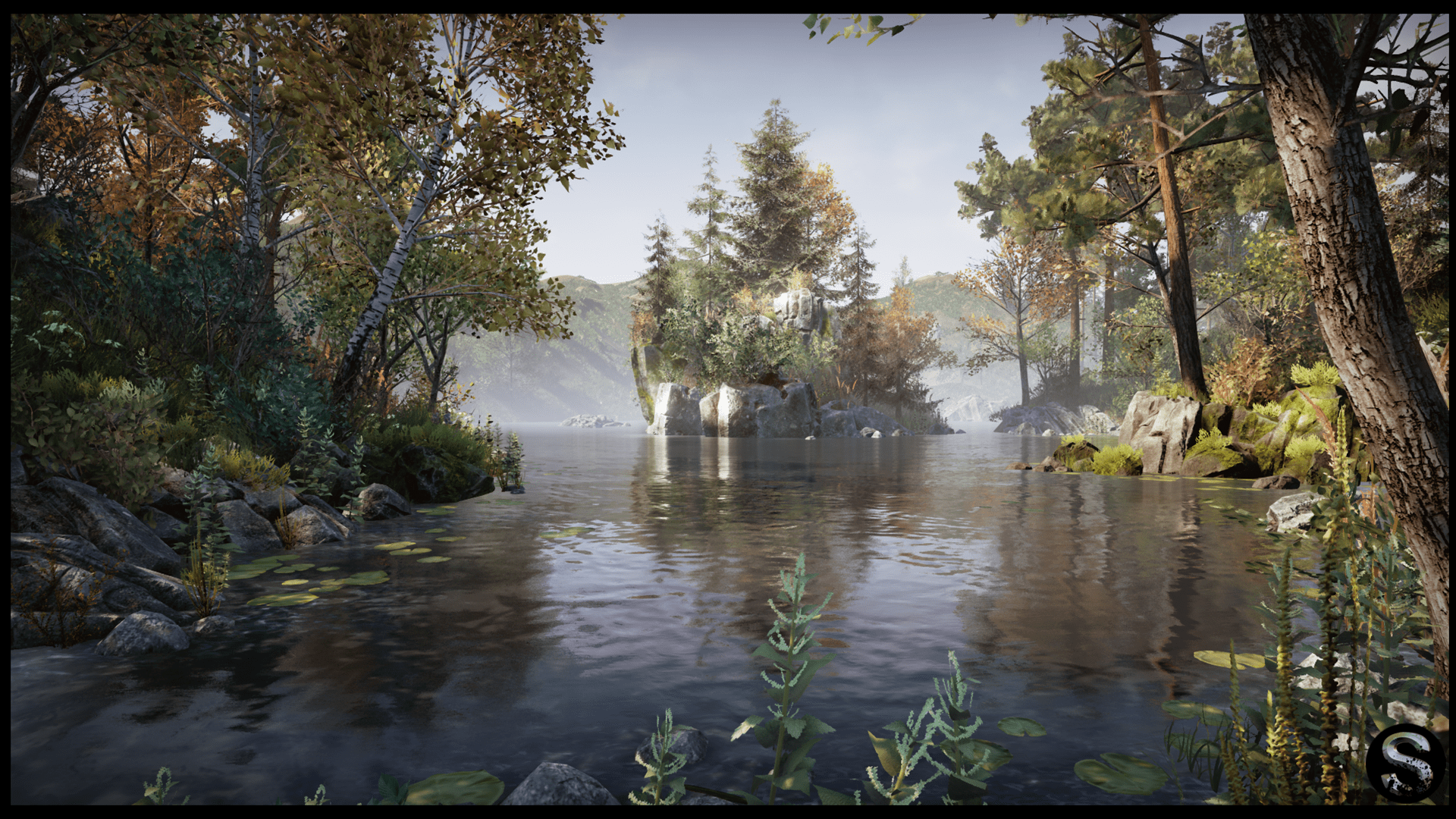 Falling Water House Wallpaper Nature Package By Silvertm In Environments Ue4 Marketplace