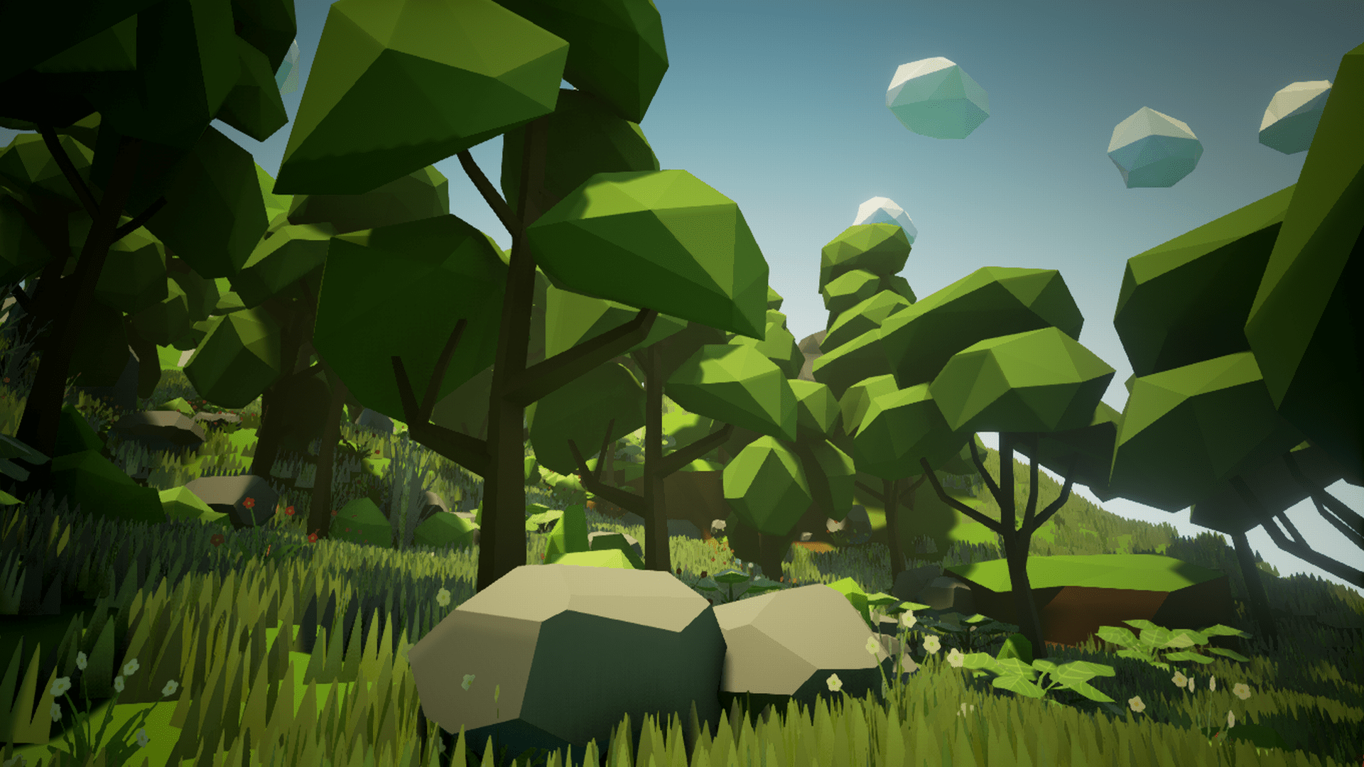 Unity 3d Wallpaper Olbert S Low Poly Forest By Whitman And Olbert In