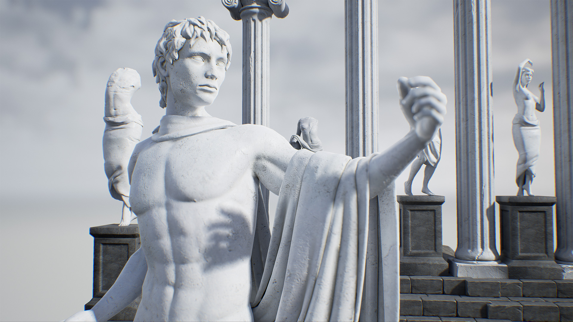 Ancient Greek Statues For Sale Greek Statue Pack Vol 1 By Matima Studio In Props Ue4