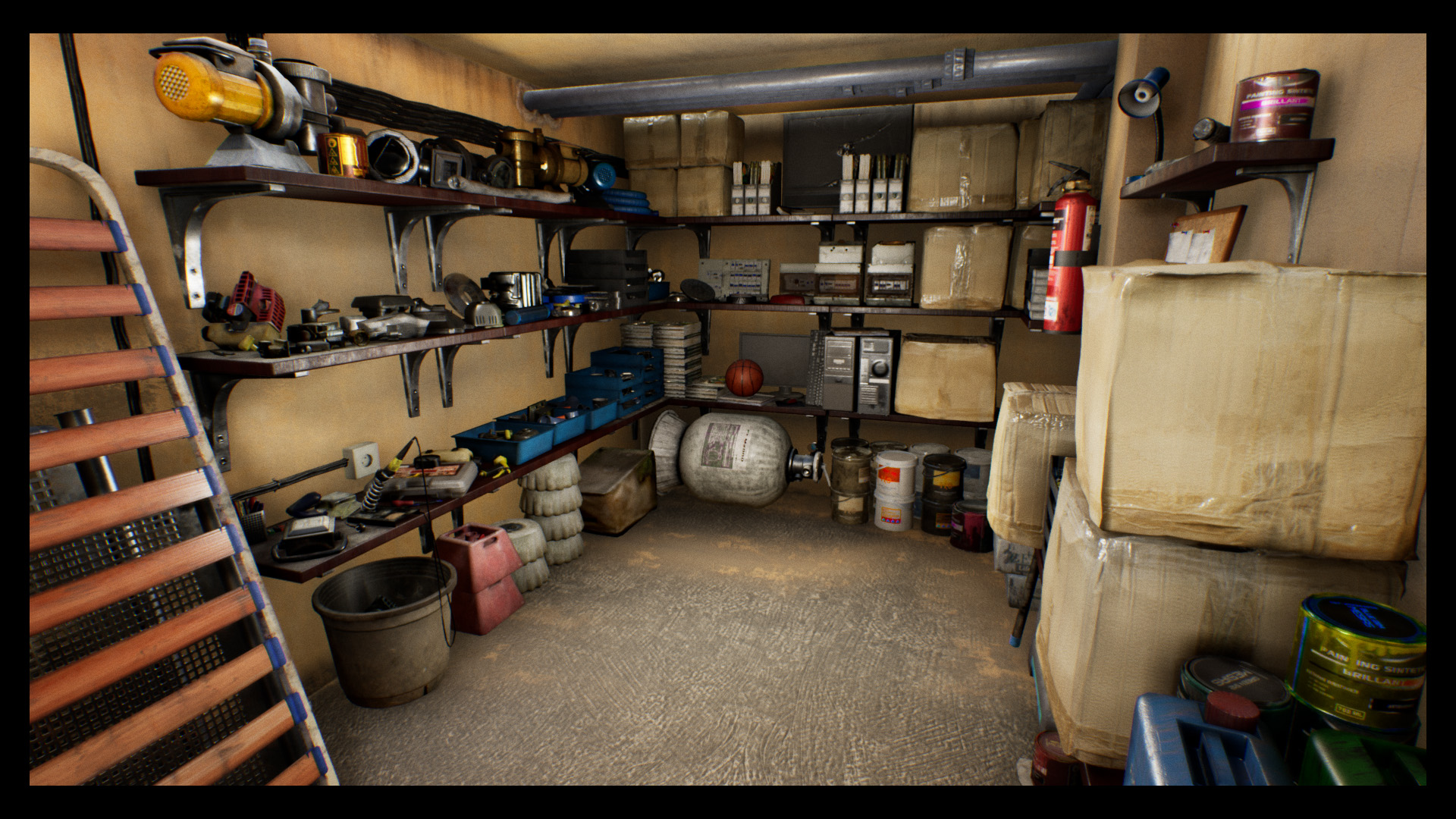 Storage Room Game Engine Technology By Unreal