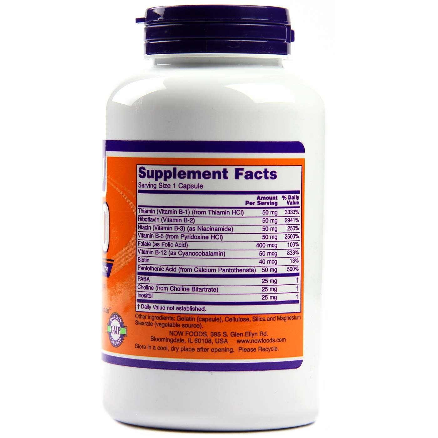 Foods Vitamin B 50 Now Foods B 50 250 Caps