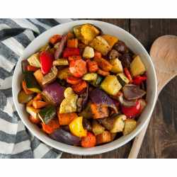 Small Crop Of Roasted Vegetables With Balsamic Vinegar