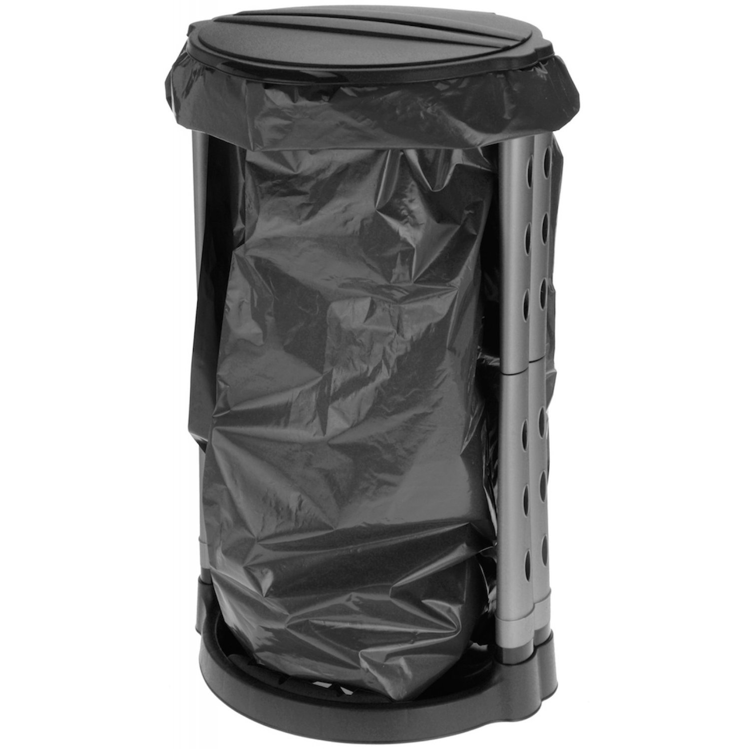 Tagliere Tiers Plastic Black 120 L Mullensack Waste Bin Bag Stander Picnic Outdoor Party Camping