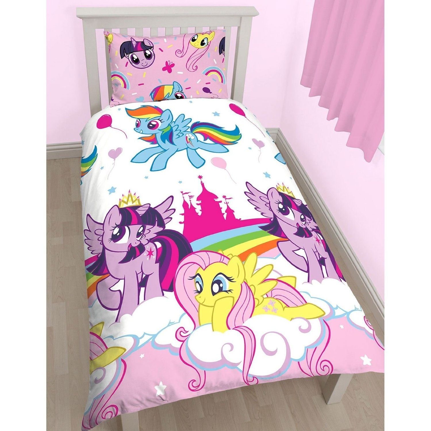 My Little Pony Bettwäsche My Little Pony Equestria Single Duvet Set Repeat Print Design