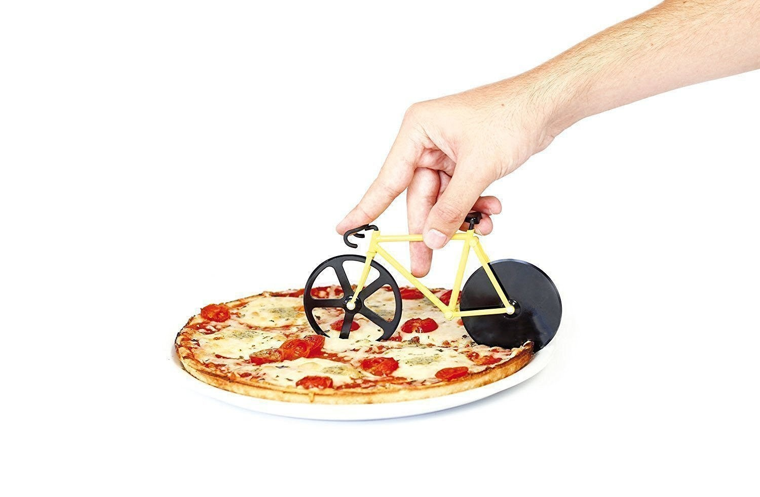Cucina Vita Bicycle Pizza Cutter Bicycle Double Pizza Cutter Pizza Cutter Made Of Stainless Steel