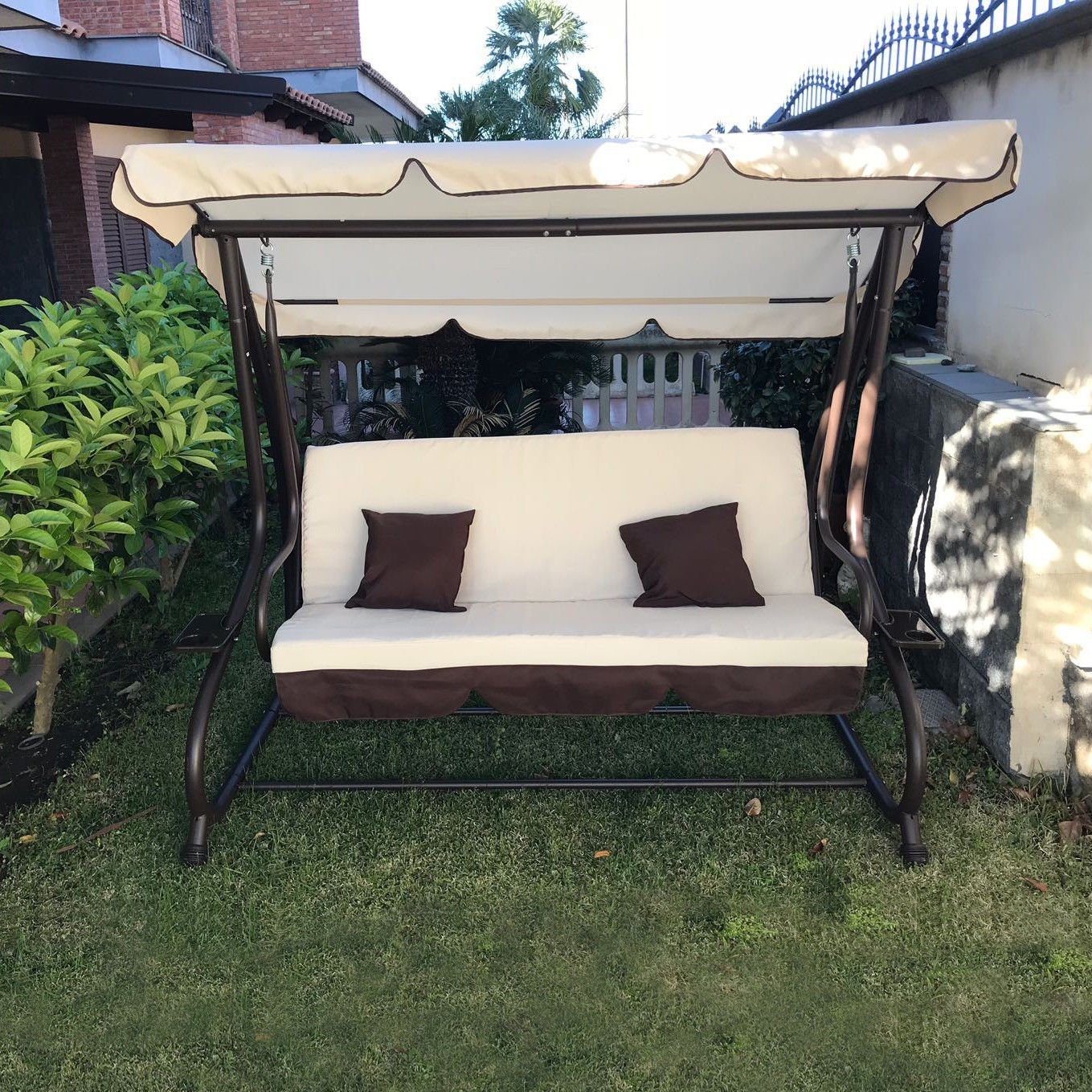 Sofa Beds Online Nz Garden Swing 3 Seater With Sun Roof Sofa Bed Swing Tilt By Fp Tech