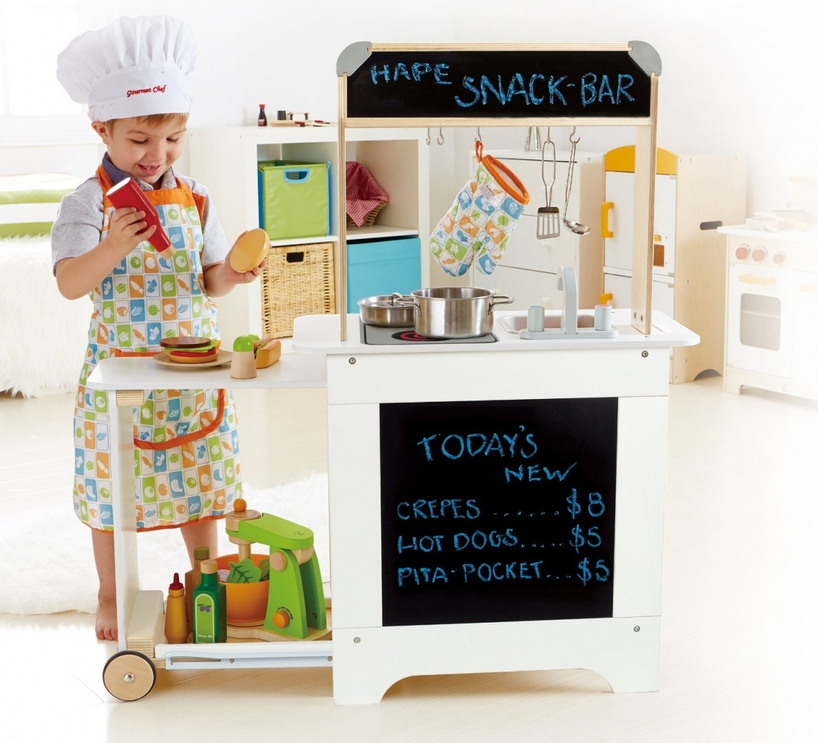 Hape E3103 - Starterset Gourmet-küche Hape Playfully Delicious Cook N Serve Kitchen