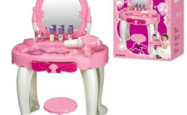 Durable New Kids Girls Dressing Table Mirror Play Set