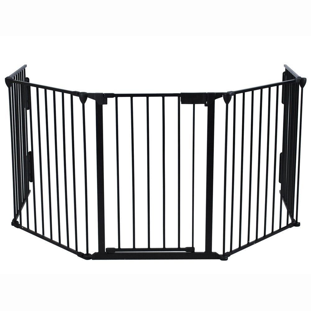 Fireplace Safety Screen Child Guard Generic Baby Pet Dog Cat Safety Fireplace Fence Guard Screen Hearth Fire Gate Metal Plastic
