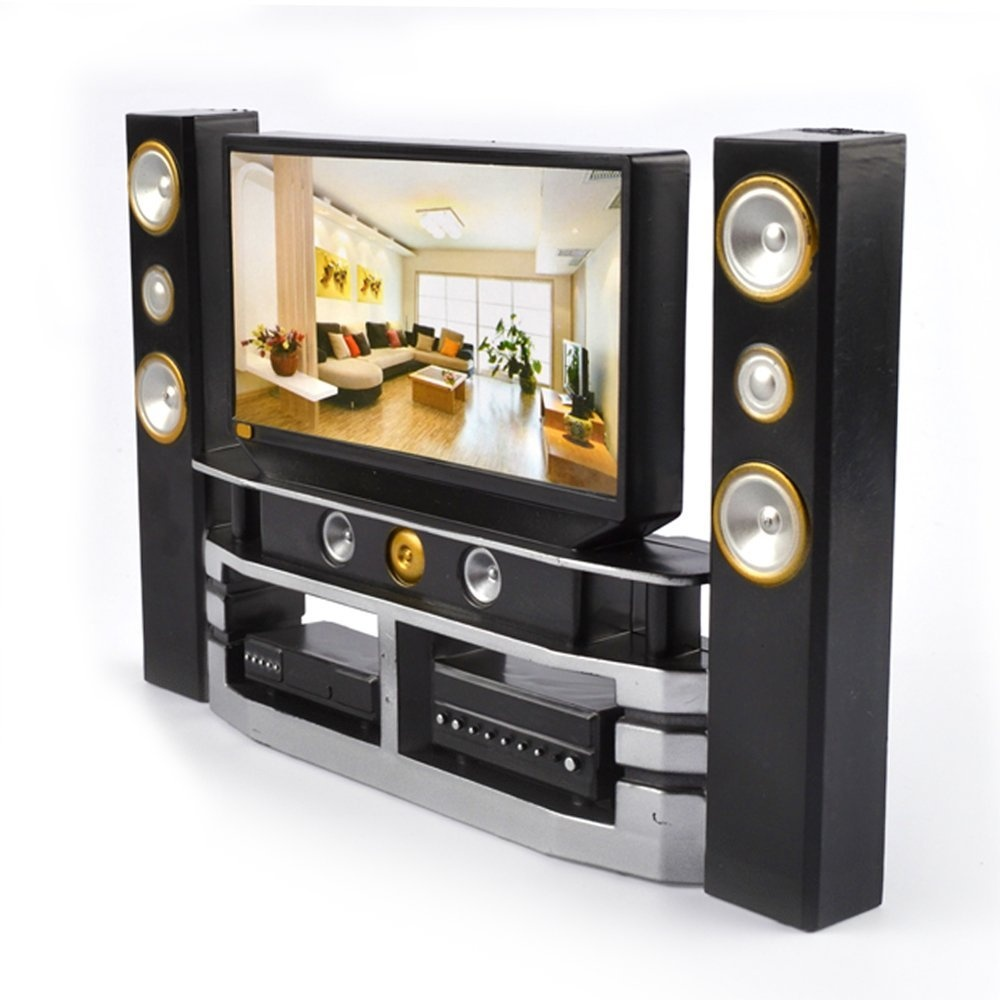 Hi Fi Tv Mini Hi Fi Tv Home Theatre Cabinet Combo For Barbie Doll Accessories House Furniture Baby Toys
