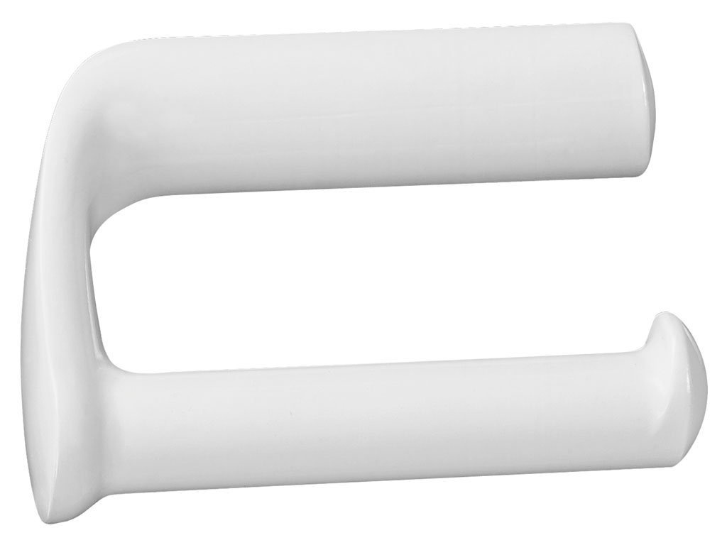 White Toilet Roll Holder Bisk Athena Toilet Roll Holder Without Cover Plastic White 14 5 X 8 X 9 Cm
