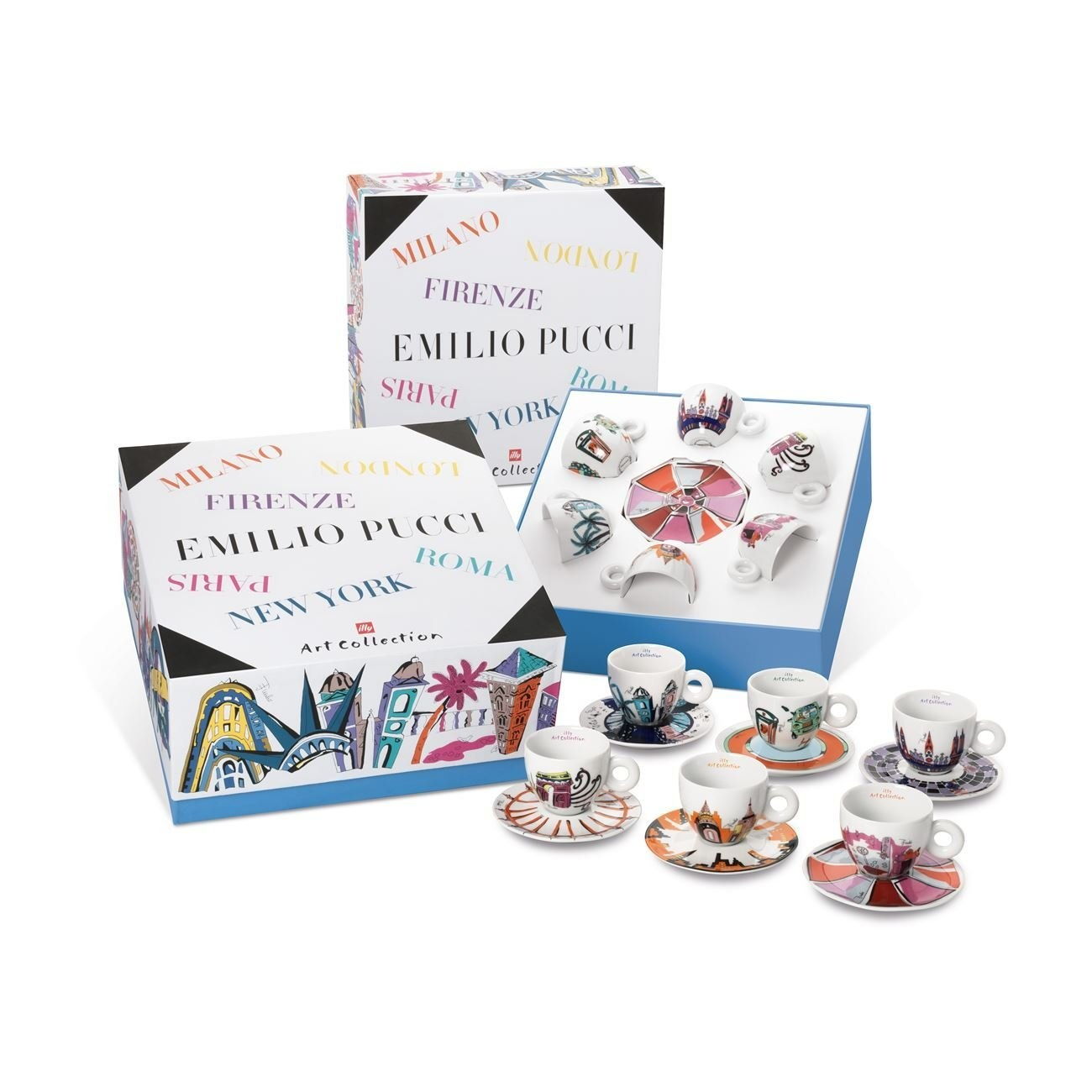 Cappuccino Cups Australia Illy Art Collection Coffee Set By Emilio Pucci 6 Cappuccino Cup 6 Saucers