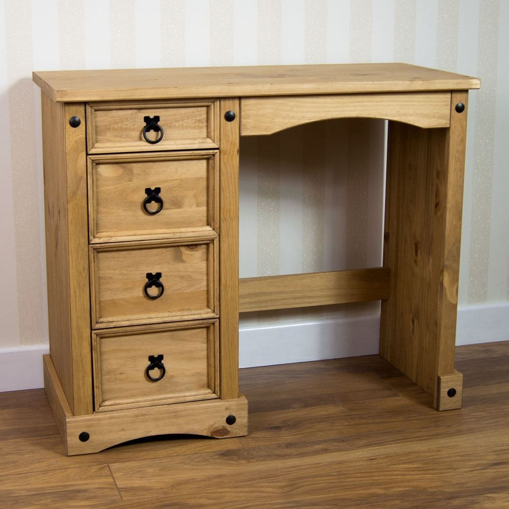 Dressing Table Australia Corona 4 Drawer Dressing Table Desk Solid Mexican Waxed Pine By Home