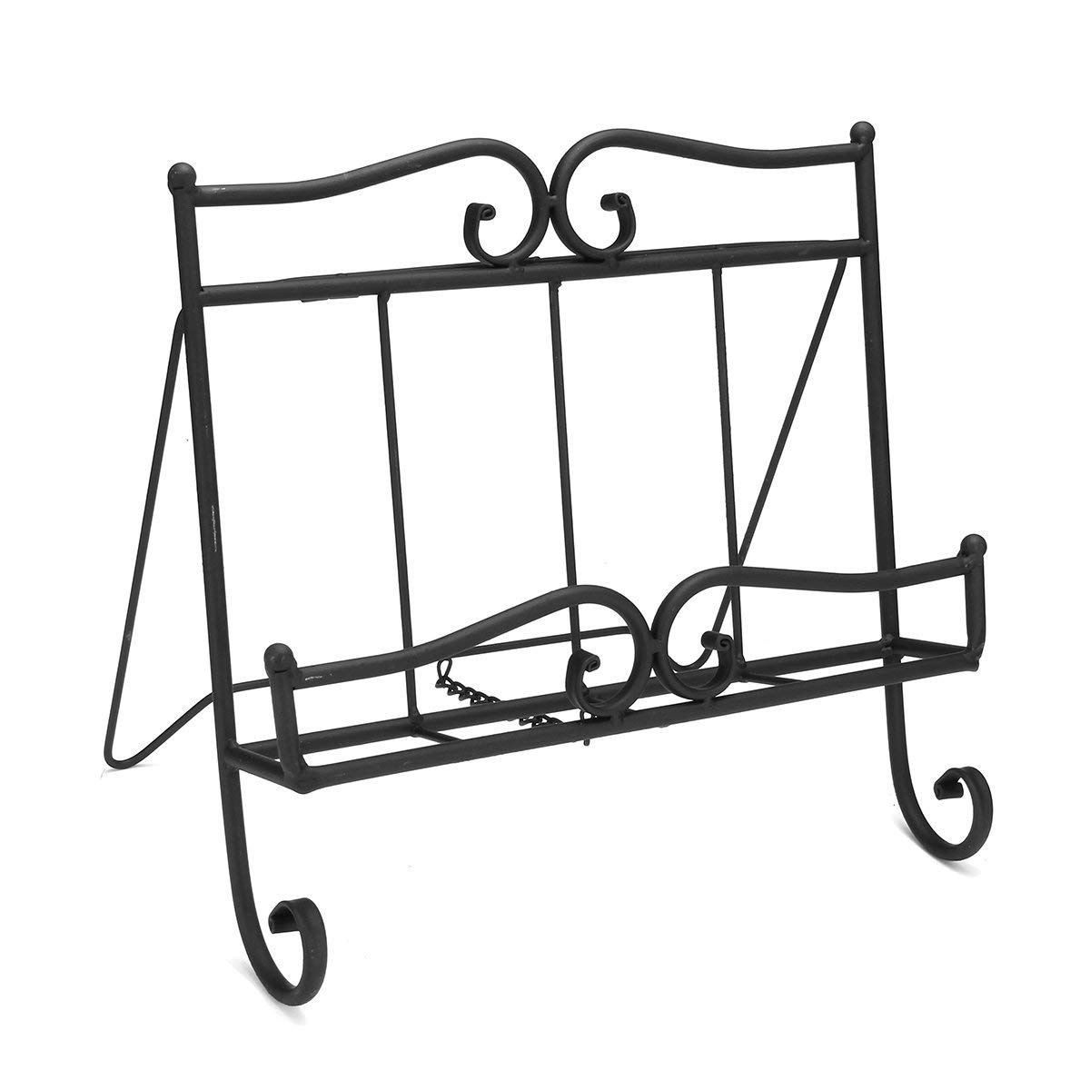 Magazine Rack Australia Vintage Style Antique Black Wrought Iron Recipe Cook Book Holder Stand Newspaper Magazine Rack