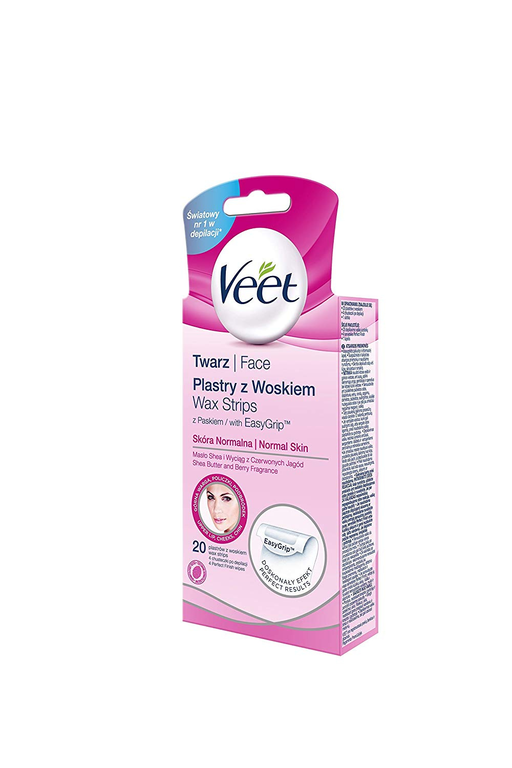 Veet Sotto La Doccia Veet Cold Wax Strips Face Pack Of 20