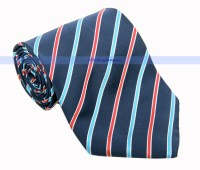Men's NeckTie Blue Red White Stripe Silk Nice Neck Tie ...