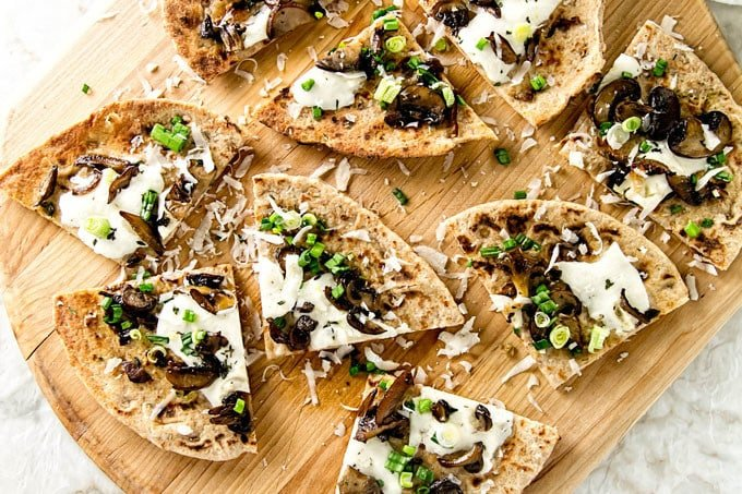 Mushroom Flatbread Pizza Girl Gone Gourmet