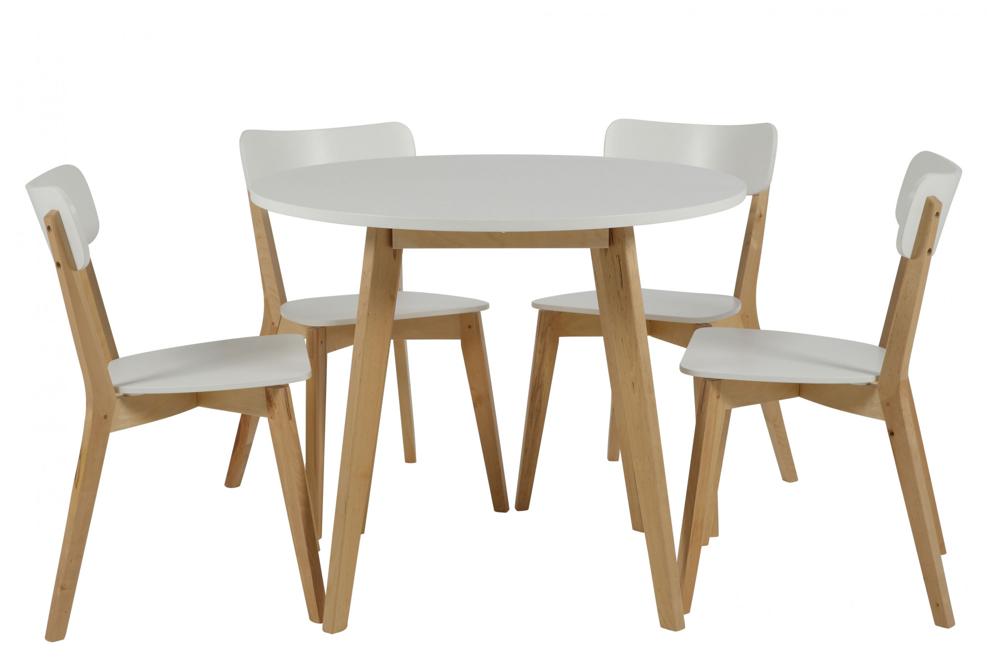 Table Ronde Scandinave Rallonge Petite Table Ronde Scandinave En Bois Massif Luza Hellin
