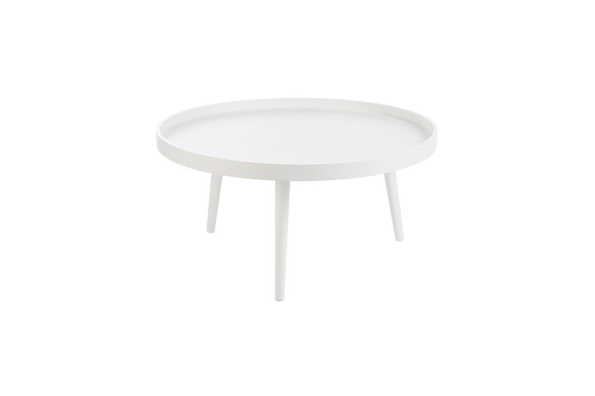 Table Ronde Bois Blanc Table Basse Ronde Moderne Blanche Hellin