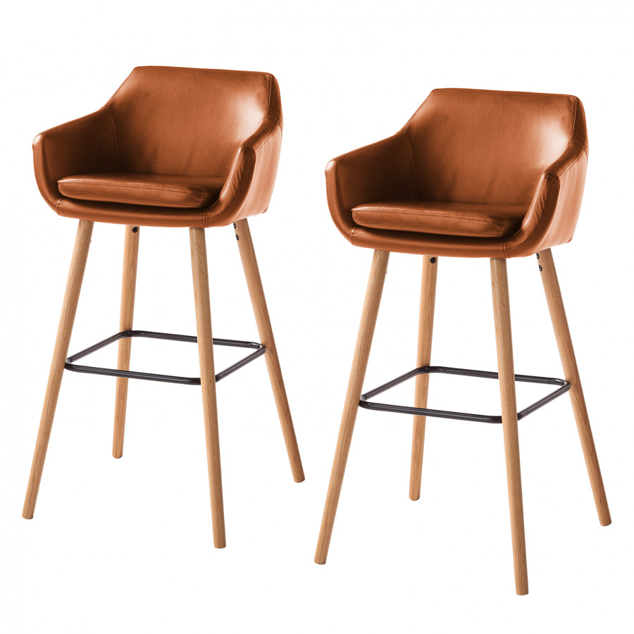 Chaise De Bar Marron Chaises De Bar Nicholas I Lot De 2